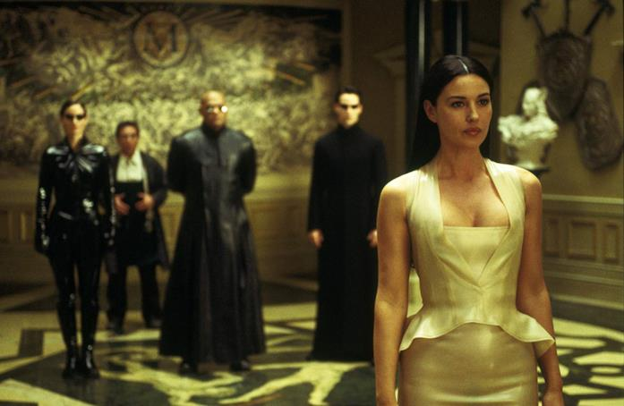 Monica Bellucci in una scena del film Matrix Reloaded