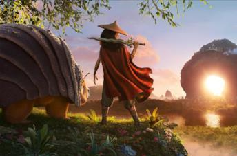 Un poster del film Raya and the Last Dragon