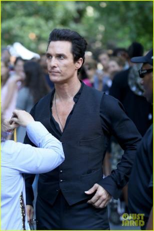 Matthew McConaughey con addetti ai lavori