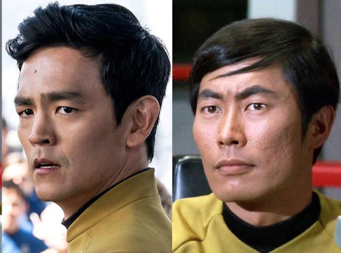 John Cho e George Takei in Star Trek