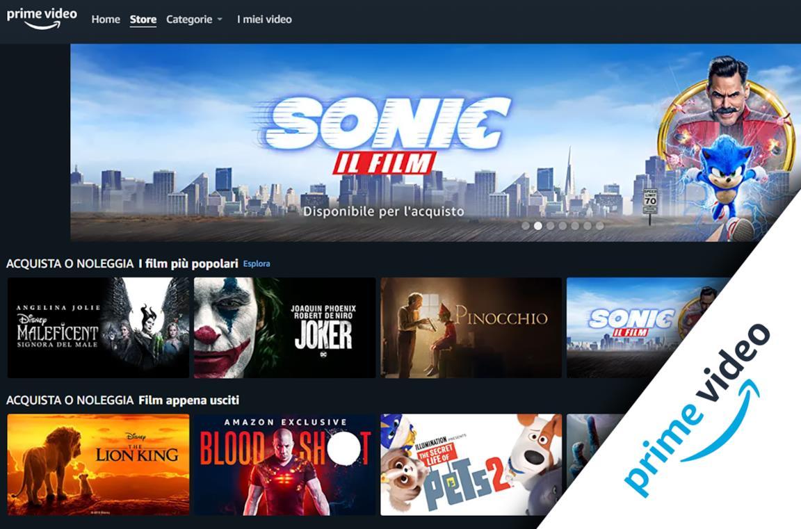 La Home di Amazon Prime Video Store
