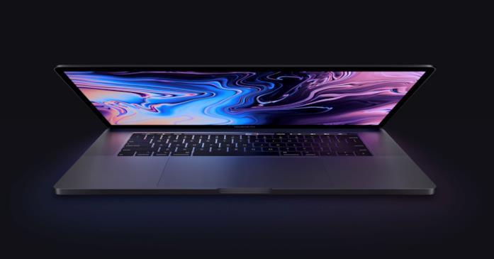 Immagine promozionale dell'ultimo MacBook Pro di Apple