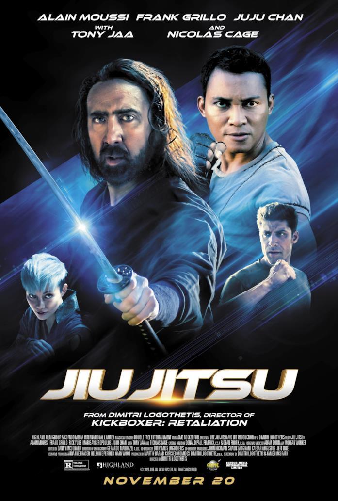 Il cast di Jiu Jitsu nella locandina del film