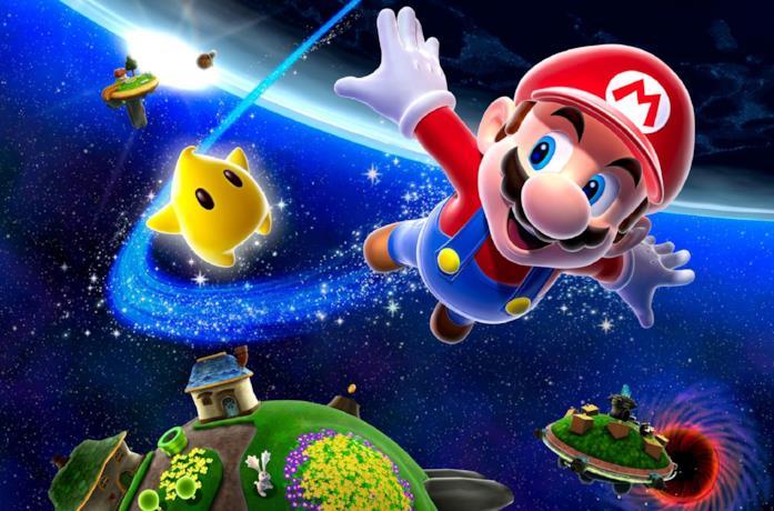 Mario in Super Mario Galaxy per Wii