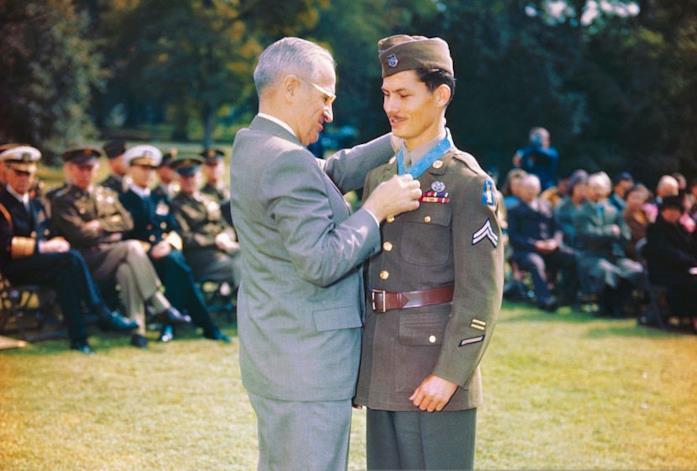 Il presidente Harry Truman e Desmond Doss