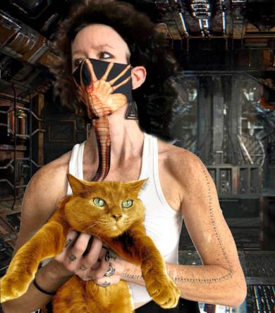 La mascherina di Alien