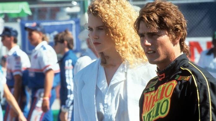 Primo piano di Nicole Kidman e Tom Cruise in Giorni di Tuono