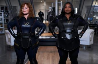 Melissa McCarthy e Octavia Spencer in una scena di Thunder Force