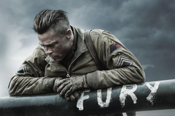 Brad Pitt nel poster ufficiale di Fury