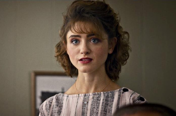 Nancy in una scena di Stranger Things
