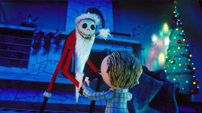 Il protagonista di Nightmare Before Christmas in una scena del film