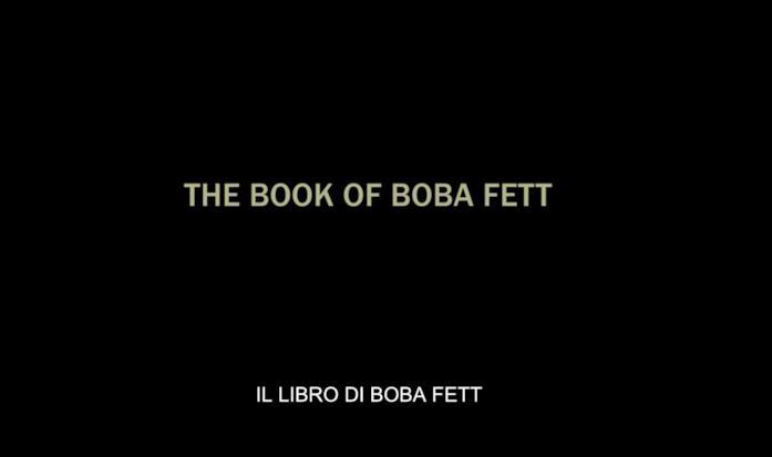 """La scritta """"The Book of Boba Fett"""""""