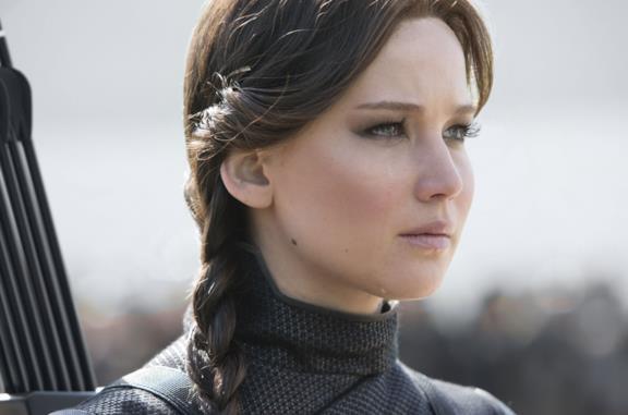 Katniss nell'ultimo film della saga di Hunger Games