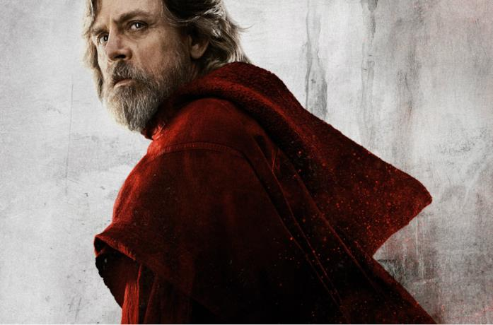 Un'immagine di Luke Skywalker nel poster di Star Wars: Gli Ultimi Jedi