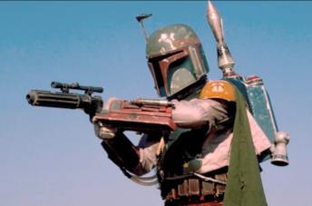 Jeremy Bullock indossa il costume del mercenario Boba Fett in Star Wars
