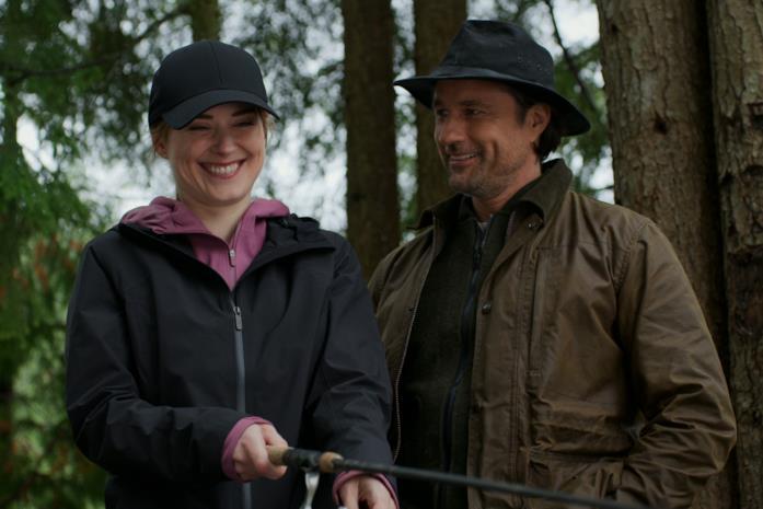 Mel e Jack pescano