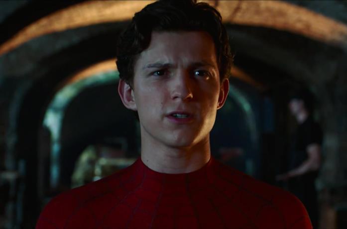 Un'immagine di Tom Holland in Spider-Man Far From Home