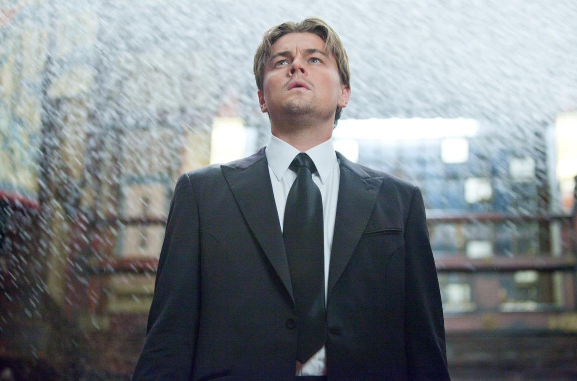 Leonardo DiCaprio in una scena del film Inception