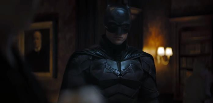 Batman in una scena del teaser trailer di The Batman