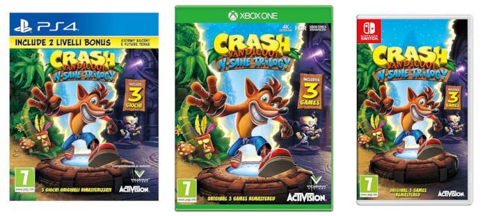 Crash Bandicoot N-Sane Trilogy per PS4, Xbox One e Nintendo Switch
