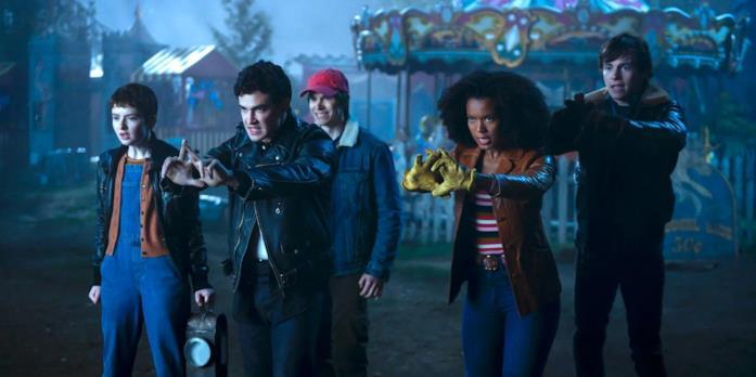 Nick, Harvey, Robi, Theo e Roz lanciano un incantesimo contro il primo Orrore Sinistro