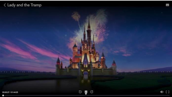 Il player web di Disney+
