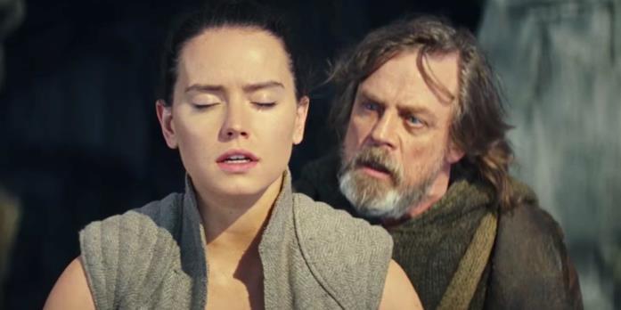 Immagine di Luke Skywalker e Rey