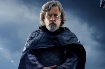 Luke Skywalker in un poster promozionale di Star Wars: Gli ultimi Jedi