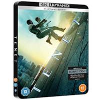 TENET 4K ULTRA HD LIMITED EDITION STEELBOOK / IMPORT / INCLUDES BLU RAY / REGION FREE.