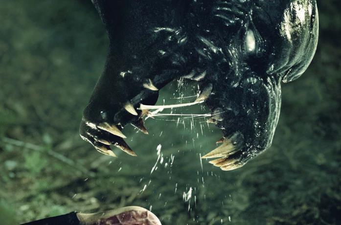 Un primo piano del mostro del film The Monster di Bryan Bertino