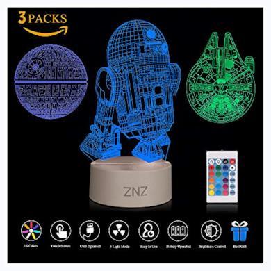 Lampada da notte a LED 3D  Star Wars)