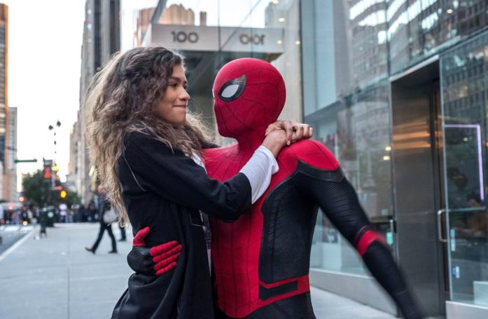 Zendaya e Tom Holland in Spider-Man: Far From Home