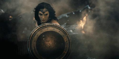 Wonder Woman in battaglia