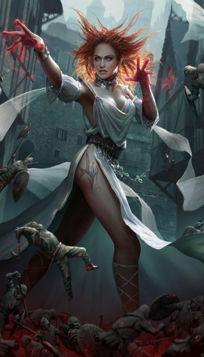 La carta di Lytta Neid nel gioco di carte di The Witcher