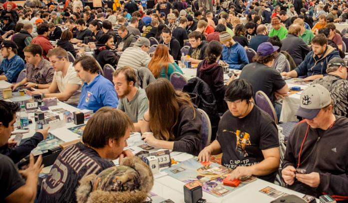 Giocatori di Magic: The Gathering allo scorso Grand Prix
