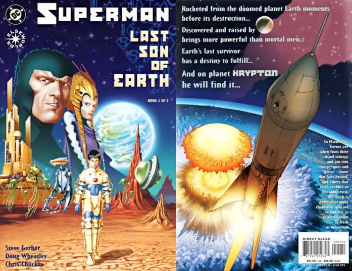 Copertina americana di Superman: Last son of Earth