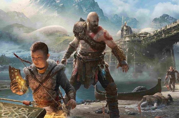 Un artwork di Kratos e Atreus dall'ultimo God of War