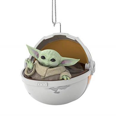 Biggystar Baby Yoda Peluche 3D Mini Yoda Figure Decorazioni per Alberi di Natale Ornamenti Natalizi Ciondolo in Resina