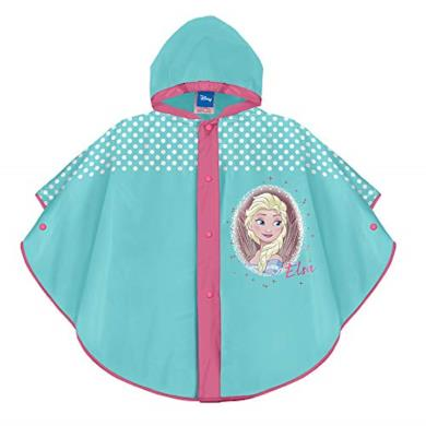 Mantellina Bimba Disney Frozen Azzurra Fucsia con Elsa