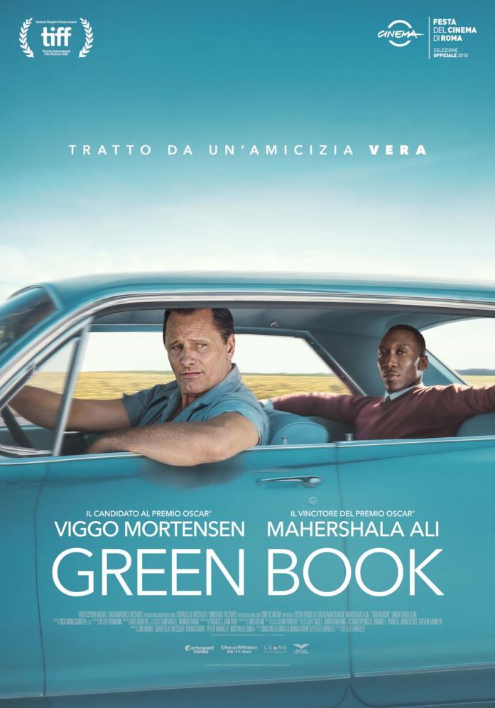 Viggo Mortensen e Mahershala Ali nel poster del film Green Book