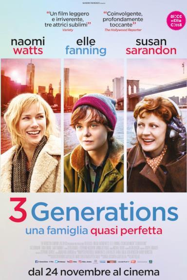 Poster 3 Generations - Una famiglia quasi perfetta