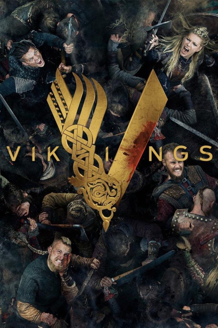 Il cast nella locandina di Vikings