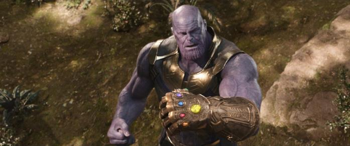 Thanos con il Guanto dell'Infinito