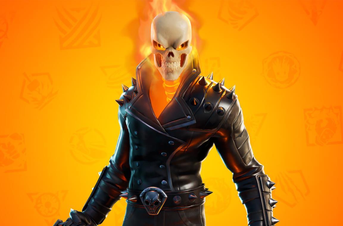 Il costume di Ghost Rider per Fortnite