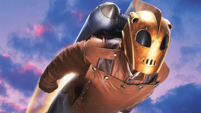 Billy Campbell in una scena del film Le avventure di Rocketeer
