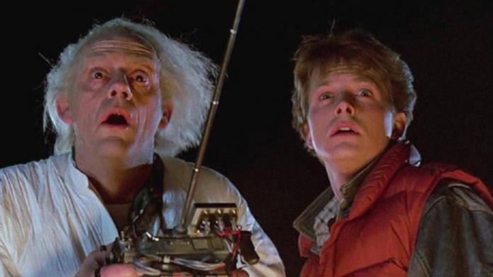 Doc Brown e Marty in Ritorno al Futuro