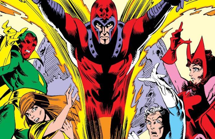 Dettaglio della cover di Vision and the Scarlet Witch #4