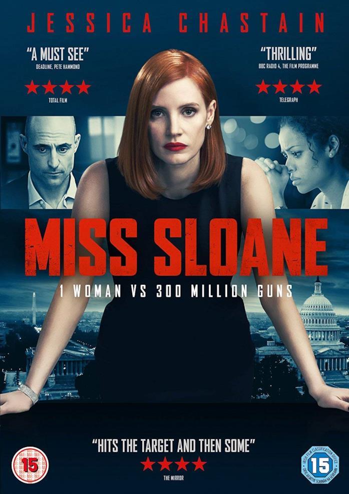 La cover del film Miss Sloane - Giochi di potere