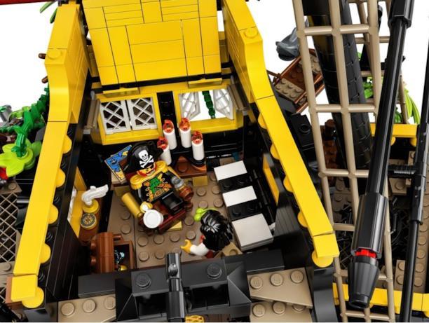 La cabina del capitano Barbarossa nel set LEGO I pirati di Barracuda Bay
