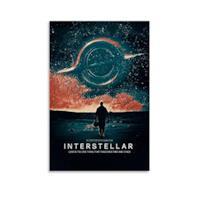 Poster su tela di xiaoxian Interstellar con stampa artistica su tela, 30 x 45 cm